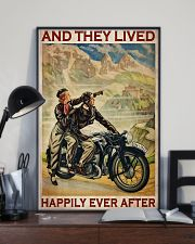 Vintage Motorcycle Couple And They Lived 24x36 Poster lifestyle-poster-2