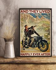 Vintage Motorcycle Couple And They Lived 24x36 Poster lifestyle-poster-3