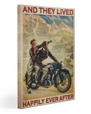 Vintage Motorcycle Couple And They Lived Gallery Wrapped Canvas Prints tile