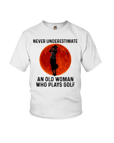 Old Lady Plays Golf