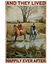 Fox Hunting Couple And They Lived Happily 24x36 Poster front