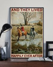 Fox Hunting Couple And They Lived Happily 24x36 Poster lifestyle-poster-2