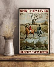 Fox Hunting Couple And They Lived Happily 24x36 Poster lifestyle-poster-3
