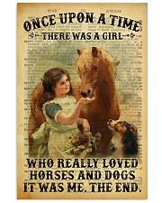 Girl Love Horses And Dogs 24x36 Poster front