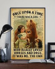 Girl Love Horses And Dogs 24x36 Poster lifestyle-poster-2