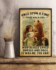Girl Love Horses And Dogs 24x36 Poster lifestyle-poster-3