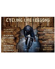Cycling Life Lessons 36x24 Poster front