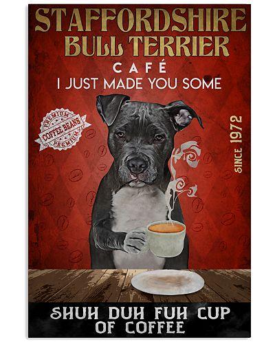 Staffordshire Bull Terrier Shuh Duh Fuh Cup Coffee