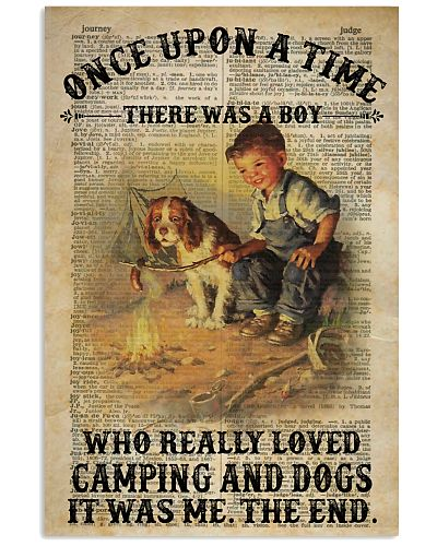 Boy Camping And Dogs Dictionary