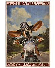 Basset Hound Motorcycle  24x36 Poster front