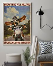 Basset Hound Motorcycle  24x36 Poster lifestyle-poster-1