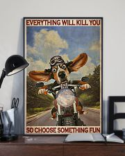 Basset Hound Motorcycle  24x36 Poster lifestyle-poster-2