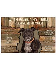 Staffordshire Bull Terrier When Visiting 36x24 Poster front