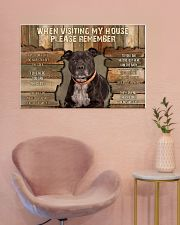 Staffordshire Bull Terrier When Visiting 36x24 Poster poster-landscape-36x24-lifestyle-19