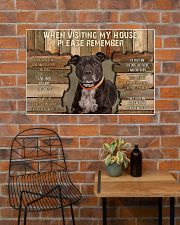 Staffordshire Bull Terrier When Visiting 36x24 Poster poster-landscape-36x24-lifestyle-20
