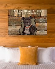 Staffordshire Bull Terrier When Visiting 36x24 Poster poster-landscape-36x24-lifestyle-23