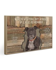 Staffordshire Bull Terrier When Visiting 30x20 Gallery Wrapped Canvas Prints thumbnail