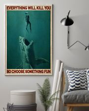 Go Diving With Shark 24x36 Poster lifestyle-poster-1
