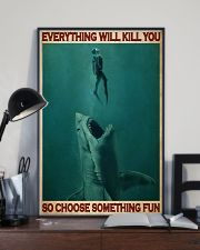 Go Diving With Shark 24x36 Poster lifestyle-poster-2
