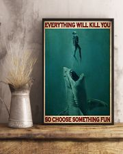 Go Diving With Shark 24x36 Poster lifestyle-poster-3