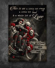 Skull Motorcycle Arrow Sign 24x36 Poster aos-poster-portrait-24x36-lifestyle-12