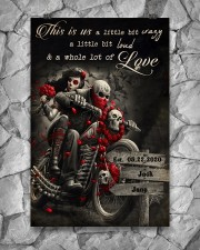 Skull Motorcycle Arrow Sign 24x36 Poster aos-poster-portrait-24x36-lifestyle-13
