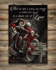 Skull Motorcycle Arrow Sign 24x36 Poster aos-poster-portrait-24x36-lifestyle-14