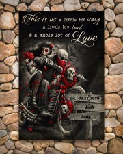 Skull Motorcycle Arrow Sign 24x36 Poster aos-poster-portrait-24x36-lifestyle-15