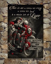 Skull Motorcycle Arrow Sign 24x36 Poster aos-poster-portrait-24x36-lifestyle-16