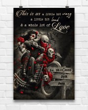 Skull Motorcycle Arrow Sign 24x36 Poster aos-poster-portrait-24x36-lifestyle-17
