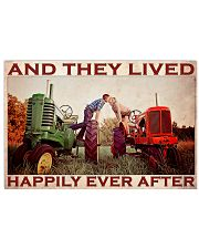 Tractor Couple Lived Happily 36x24 Poster front