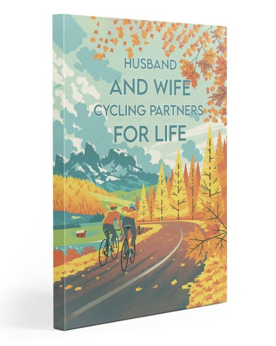 Couple Cycling Lived Happily 2