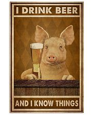 Pig Drink Beer Know Things  24x36 Poster front
