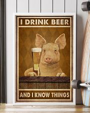 Pig Drink Beer Know Things  24x36 Poster lifestyle-poster-4
