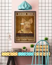 Pig Drink Beer Know Things  24x36 Poster lifestyle-poster-6