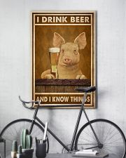 Pig Drink Beer Know Things  24x36 Poster lifestyle-poster-7