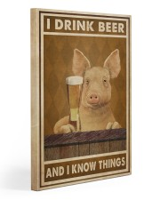 Pig Drink Beer Know Things  Gallery Wrapped Canvas Prints tile