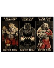 Pitbull Protect Respect Defeat 36x24 Poster front