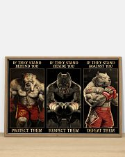 Pitbull Protect Respect Defeat 36x24 Poster poster-landscape-36x24-lifestyle-03