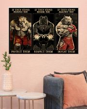 Pitbull Protect Respect Defeat 36x24 Poster poster-landscape-36x24-lifestyle-18