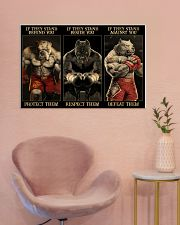Pitbull Protect Respect Defeat 36x24 Poster poster-landscape-36x24-lifestyle-19