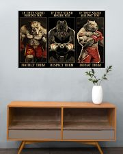 Pitbull Protect Respect Defeat 36x24 Poster poster-landscape-36x24-lifestyle-21