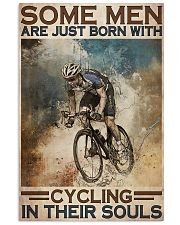Men Born With Cycling 24x36 Poster front
