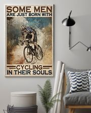 Men Born With Cycling 24x36 Poster lifestyle-poster-1