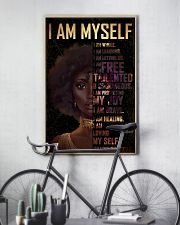 Black Girl Afro  24x36 Poster lifestyle-poster-7