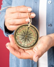Vintage Compass Not All Those Circle ornament - single (porcelain) aos-circle-ornament-single-porcelain-lifestyles-01