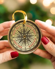 Vintage Compass Not All Those Circle ornament - single (porcelain) aos-circle-ornament-single-porcelain-lifestyles-08