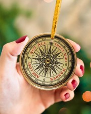 Vintage Compass Not All Those Circle ornament - single (porcelain) aos-circle-ornament-single-porcelain-lifestyles-09