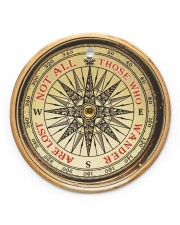Vintage Compass Not All Those Circle ornament - single (porcelain) front