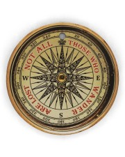 Vintage Compass Not All Those Circle Ornament (Wood tile
